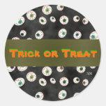U Pick Colour/Floating Eye Ball Candy Envelope Round Sticker