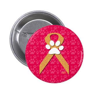 U-pick the Color/Animal Cruelty Prevention Ribbon 6 Cm Round Badge