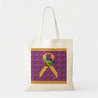 U-pick the Color/Animal Cruelty Prevention Ribbon Budget Tote Bag