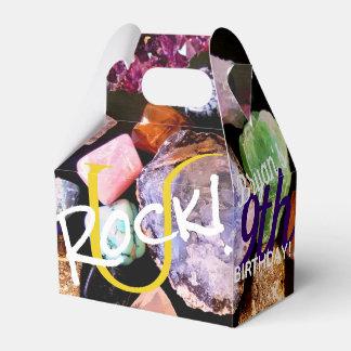 U Rock! Colourful Gemstone Favour Box Personalised