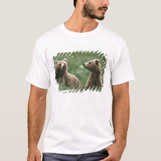 U.S.A., Alaska, Kodiak Two sub-adult brown bears T-Shirt