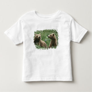 U.S.A., Alaska, Kodiak Two sub-adult brown bears Toddler T-Shirt