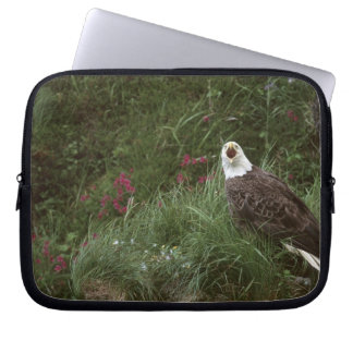 U.S.A., Alaska, Unalaska Island Bald eagle Laptop Sleeves