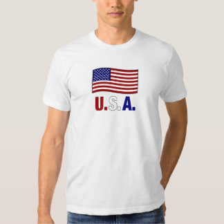U.S.A   AMERICAN FLAG TEE SHIRT