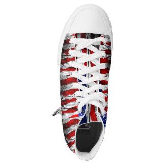 U.S.A Custom Zipz High Top Shoes Printed Shoes