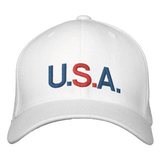 U.S.A CUSTOMIZABLE CAP by eZaZZleMan.com Embroidered Baseball Caps
