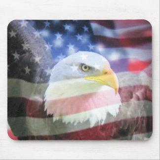 U.S.A. Eagle & Flag Mouse Pad