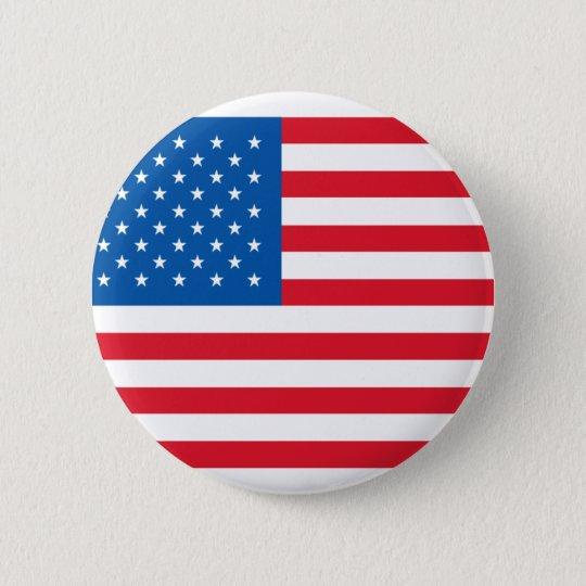 U.S.A. Flag Button Badge