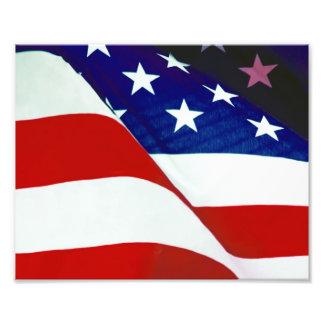 U.S.A. Flag Photographic Print