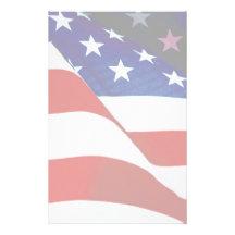 U.S.A. Flag Stationery