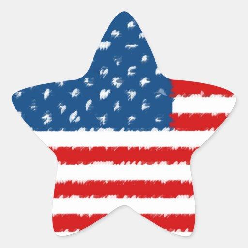 U.S.A. Flag Star Stickers