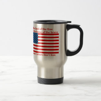 U S A FLAG the land of the free Mugs