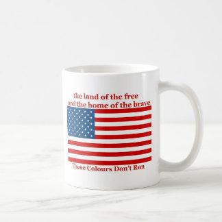 U S A FLAG the land of the free Coffee Mug