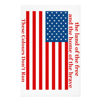 U S A FLAG the land of the free Stationery Paper
