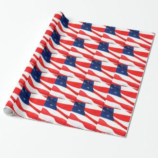 U.S.A. Flag Wrapping Paper
