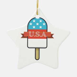 U.S.A. Ice Lolly Christmas Ornament