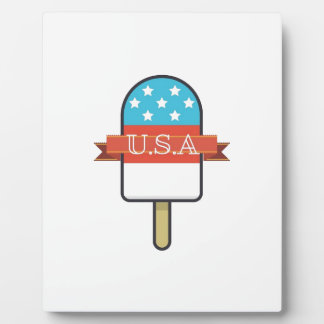 U.S.A. Ice Lolly Photo Plaques