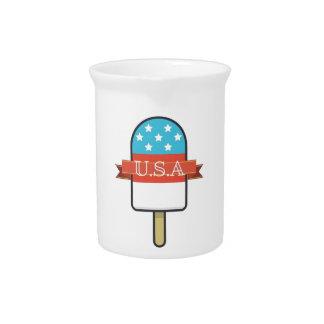U.S.A. Ice Lolly Pitcher