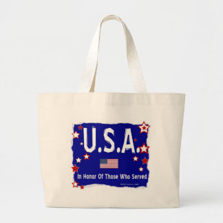 U.S.A. In Honor of Vets Tote Bag