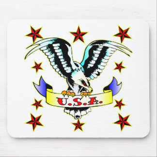 U.S.A Old School Eagle Tattoo Mouse Pads