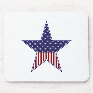 U.S.A. Patriotic Flag Design Mouse Pad