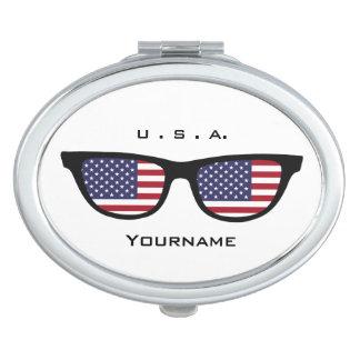 U. S. A. Shades custom pocket mirror Makeup Mirrors