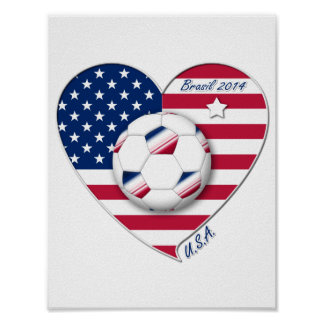 """""""U.S.A."""" Soccer Team Soccer of the United States 2 Print"""