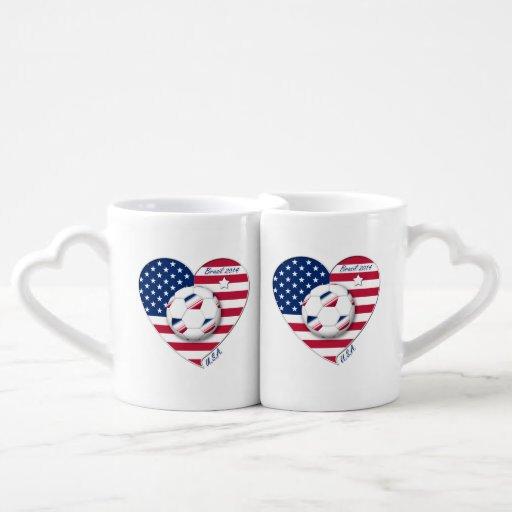 """U.S.A."" Soccer Team. Soccer of the United States Lovers Mug Sets"