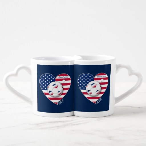 U.S.A. Soccer Team.  Soccer the United States 2014 Lovers Mug Sets