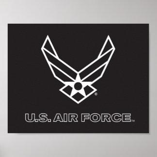 U.S. Air Force Logo - Black Poster