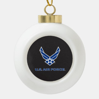U.S. Air Force Logo - Blue Ceramic Ball Decoration