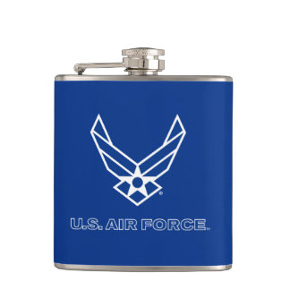 U.S. Air Force Logo - Blue Hip Flask