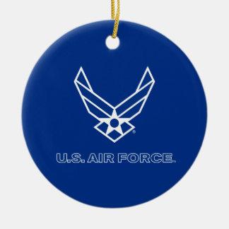 U.S. Air Force Logo - Blue Round Ceramic Decoration