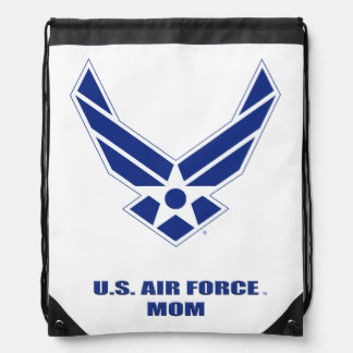 U.S. Air Force Mom Drawstring Backpack