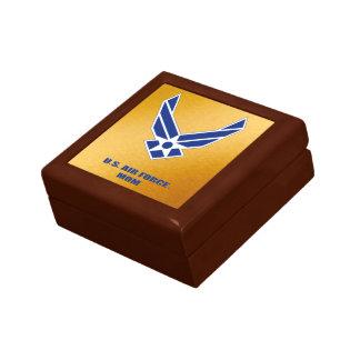 U.S. Air Force Mom Wooden Jewelry Keepsake Box