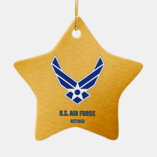 U.S. Air Force Retired Ceramic Ornament
