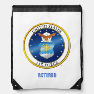 U.S. Air Force Retired Drawstring Backpack