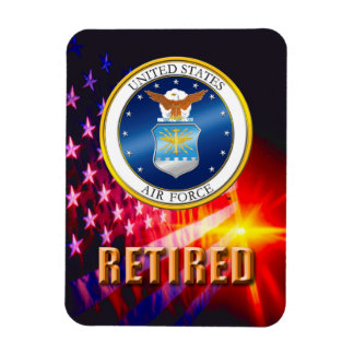 U.S. Air Force Retired Flexible Photo Magnet
