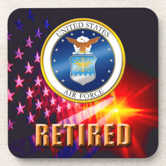U.S. Air Force Retired Hard plastic coaster