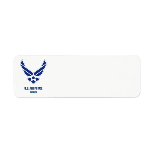 U.S. Air Force Retired Label