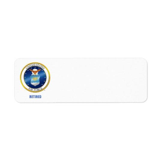 U.S. Air Force Retired Label Return Address Label