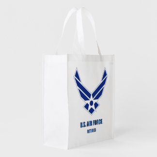 U.S. Air Force Retired Reusable Grocery Bag