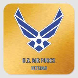U.S. Air Force Retired Square Sticker