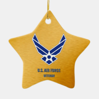 U.S. Air Force Vet Ceramic Ornament