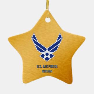 U.S. Air Force Veteran Ceramic Ornament