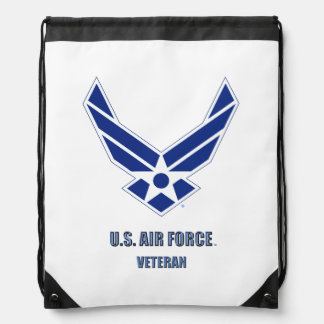 U.S. Air Force Veteran Drawstring Backpack
