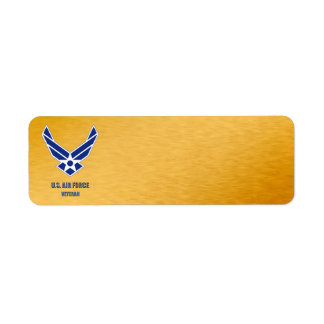 U.S. Air Force Veteran Label Return Address Label