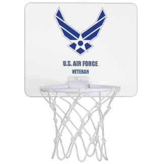 U.S. Air Force Veteran Mini Basketball Hoop