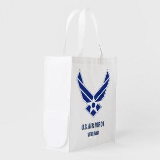U.S. Air Force Veteran Reusable Grocery Bag