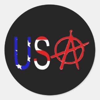 U.S. Anarchy Round Sticker